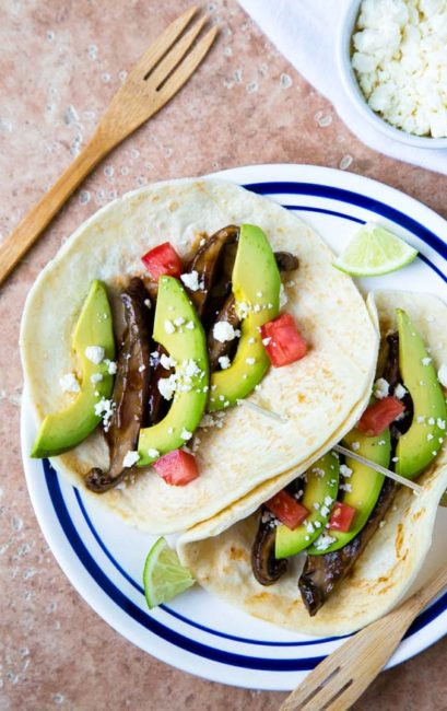 Smoky Portobello Tacos @dessertfortwo
