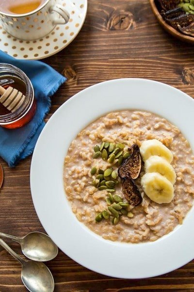 Brown Rice Breakfast Pudding - a healthy breakfast treat