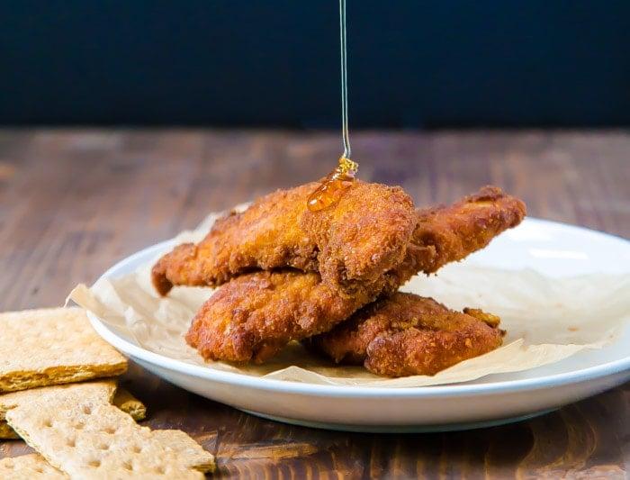 Fried Graham Cracker Chicken Strips @dessertfortwo