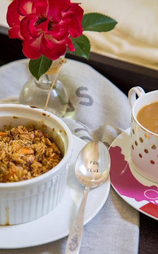 Sweet Potato Crisp for breakfast @dessertfortwo