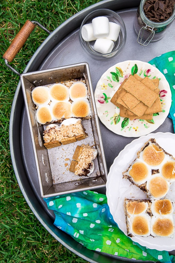 S'mores rice crispy treats!!! by @dessertfortwo