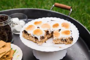 S'mores Rice Krispie Treats @dessertfortwo