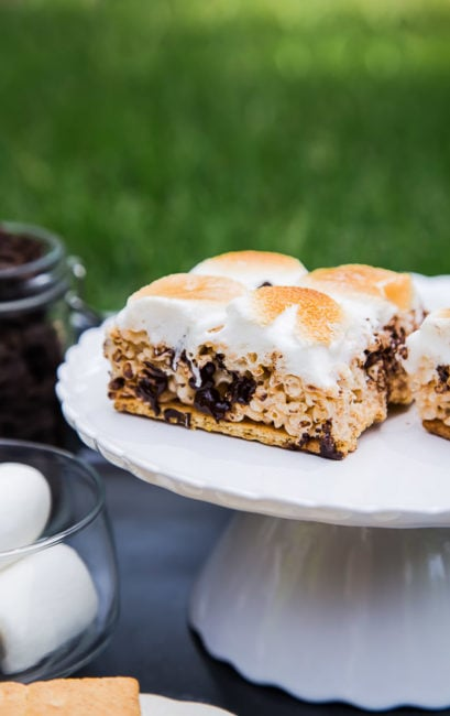 S'mores Rice Crispy Treats (!!!) @dessertfortwo