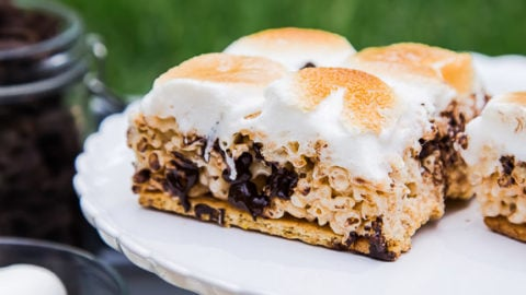 S'mores Rice Crispy Treats (!!!) @dessertfortwo