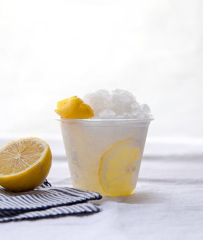 Vodka tonic granita with lemon @dessertfortwo