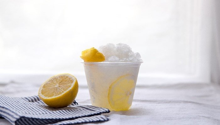 Vodka tonic granita with lemon @dessertfortwo