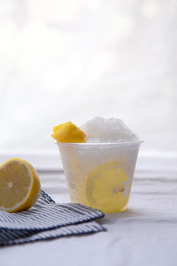Frozen vodka tonic by @dessertfortwo