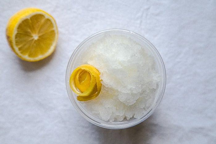 Frozen slushy vodka tonic cocktail @dessertfortwo