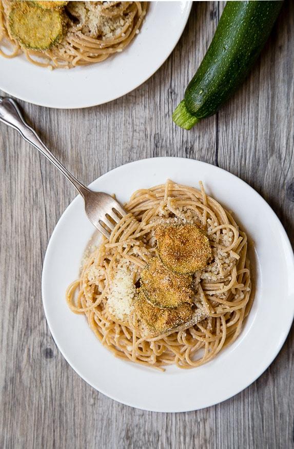 Fried Zucchini Pasta for two @dessertfortwo