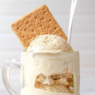 Graham Cracker Ice Cream! @dessertfortwo
