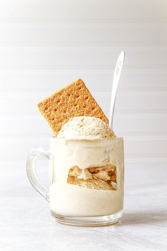 Graham Cracker Infused Ice Cream! @dessertfortwo