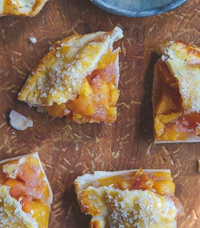 Nectarine Vanilla Pies @dessertfortwo