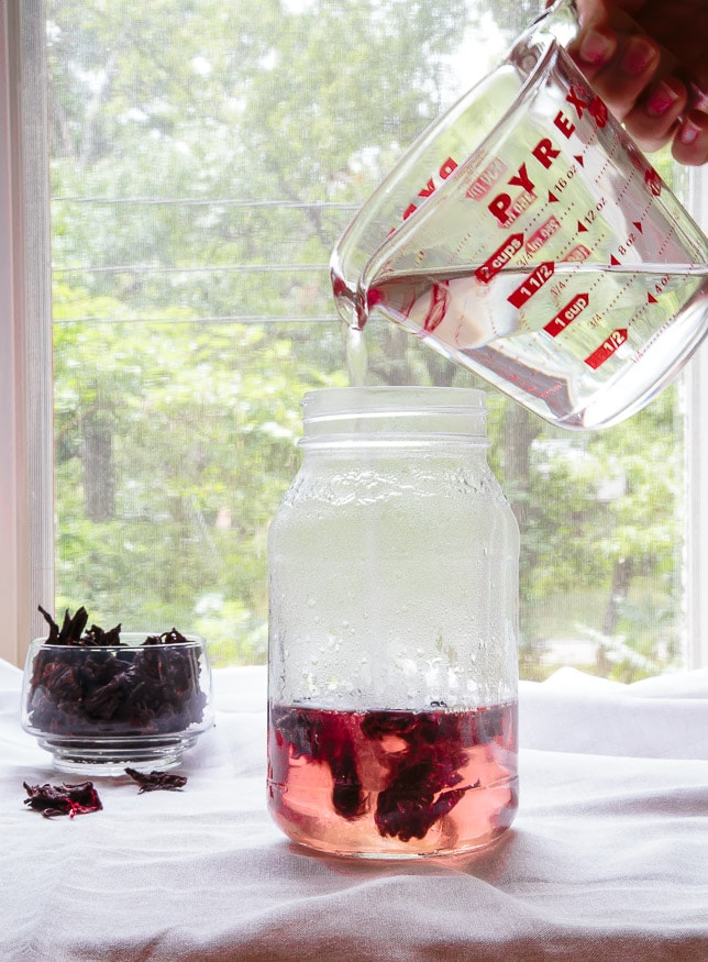 Hibiscus Tea steeping @dessertfortwo