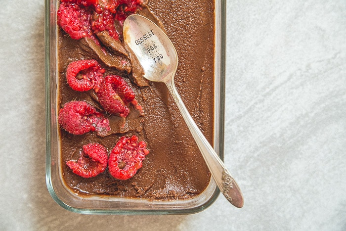 Chocolate Sorbet with berries @dessertfortwo