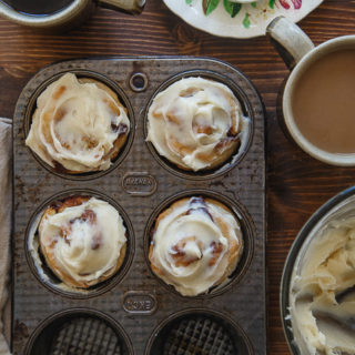 No yeast quick cinnamon rolls for two @dessertfortwo