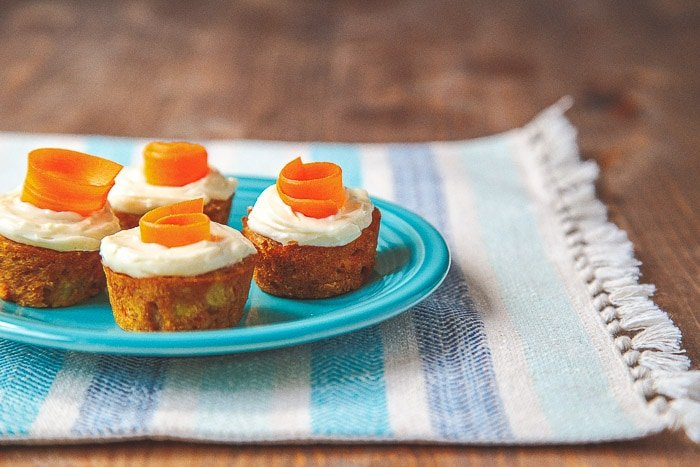 Skinny Mini Carrot Cake @dessertfortwo
