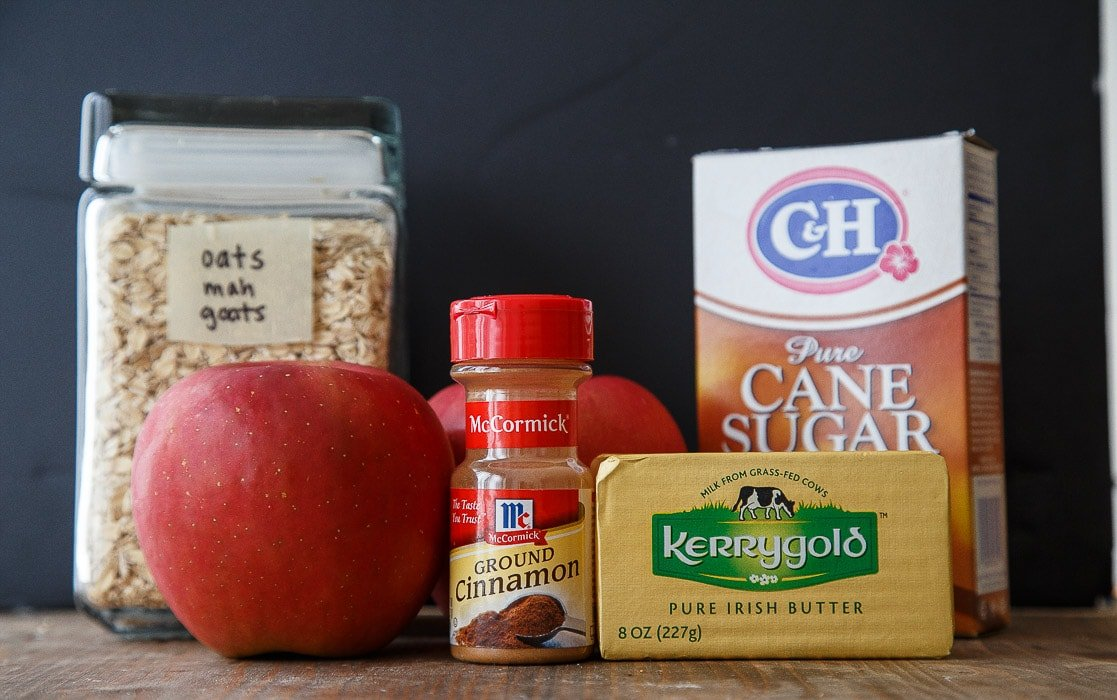 Recipe for a small apple crisp for two @dessertfortwo