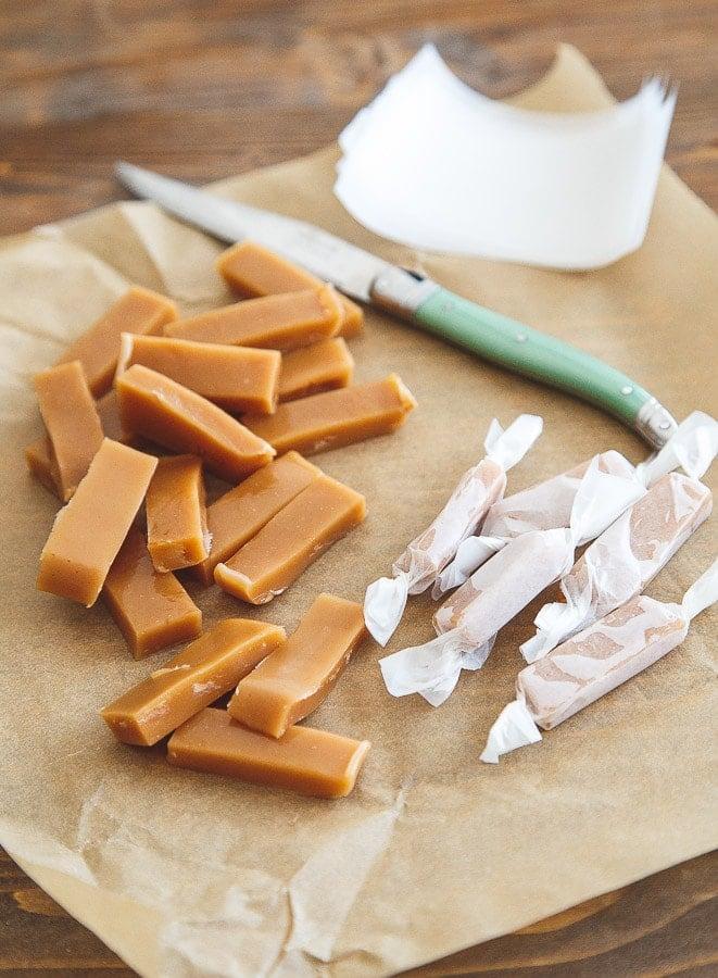Small batch of homemade caramels @dessertfortwo