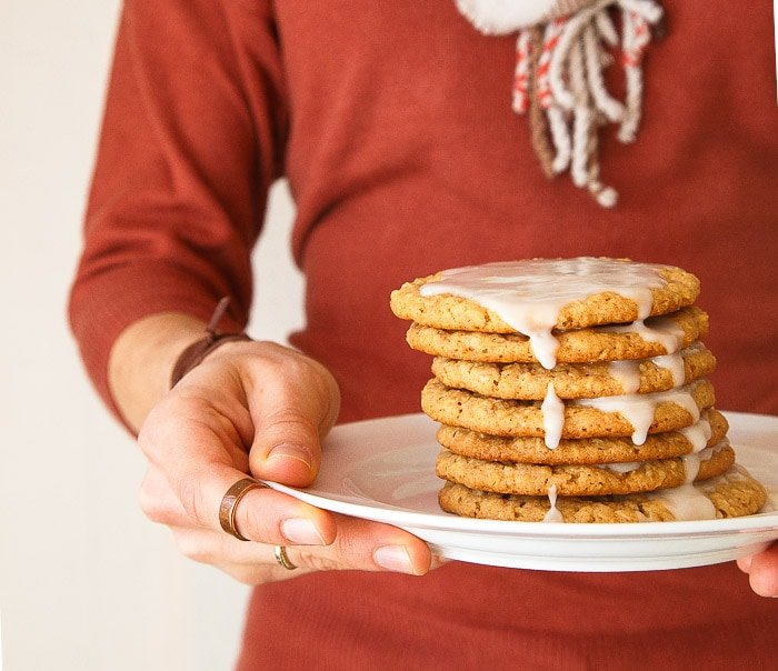 Honey Oatmeal Cookies by @dessertfortwo
