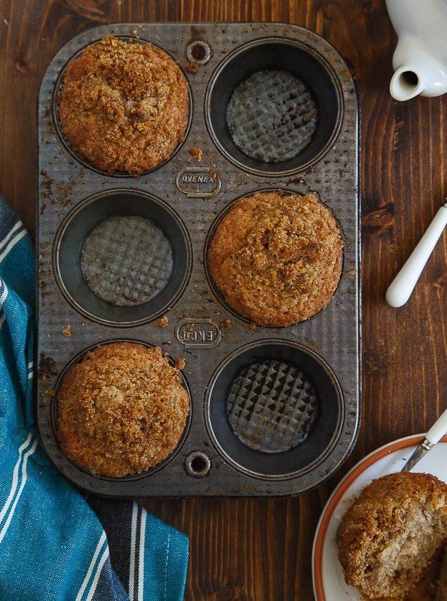 Coffee cake muffins: Mini coffee cakes made in muffin pans @dessertfortwo