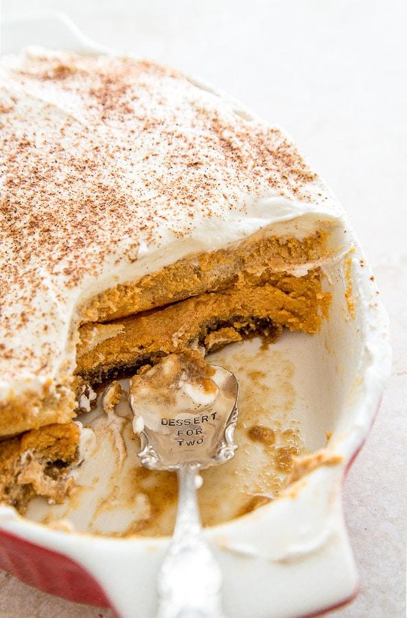 Pumpkin Spice Latte Tiramisu @dessertfortwo