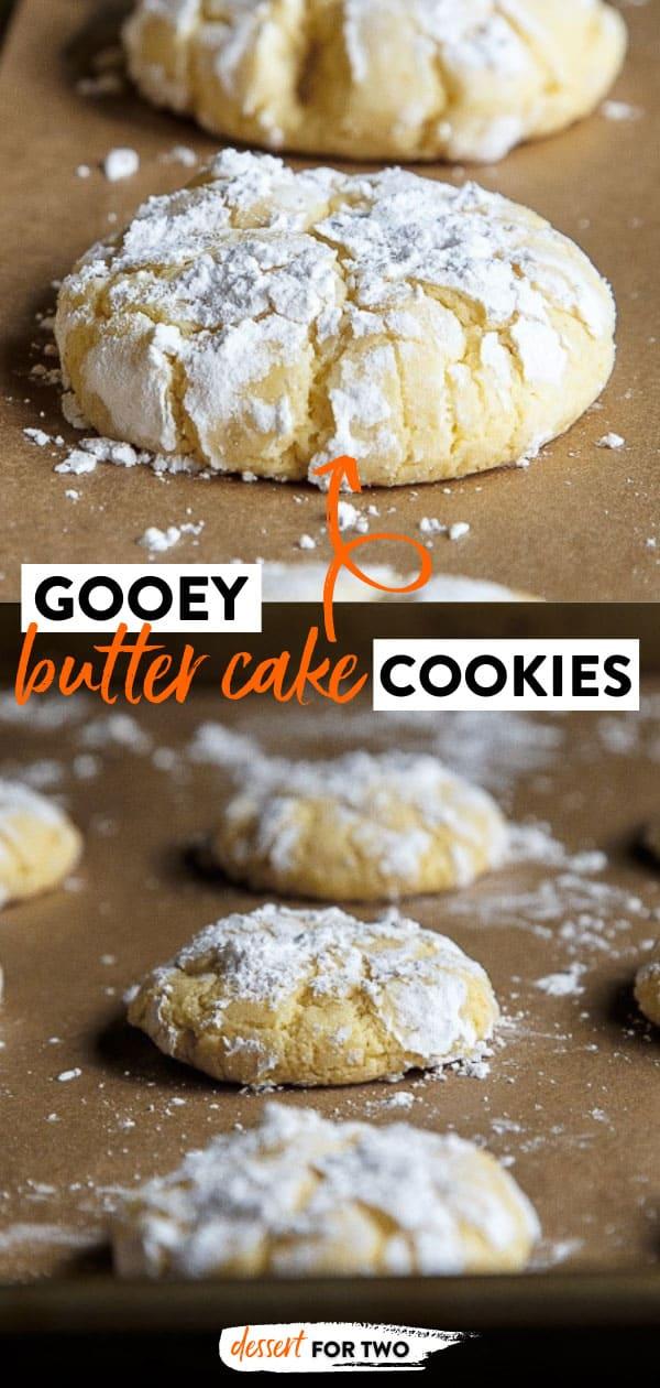 1 dozen gooey butter cake cookies MADE FROM SCRATCH. No cake mix! #gooeybutter #gooeybuttercake #cookies