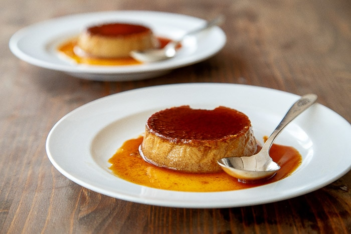 Gingerbread flan for two @dessertfortwo