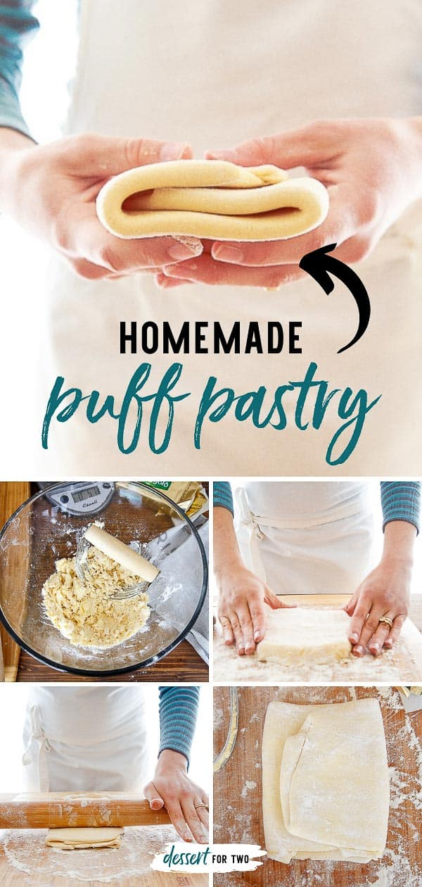 Homemade puff pastry recipe is way easier than you think! Got 15 minutes? And lots of butter? You're going to use this recipe again and again. #puffpastry #puffpastryrecipe #homemadepuffpastry #roughpuff #roughpuffpastry #puffpastrydessert
