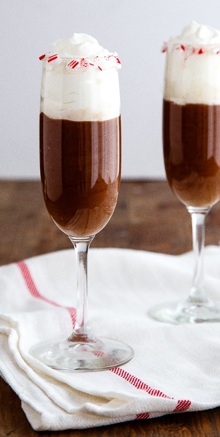 Skinny Chocolate Mousse recipe @dessertfortwo
