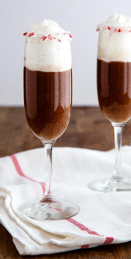 Skinny Chocolate Mousse recipe @dessertfortwo