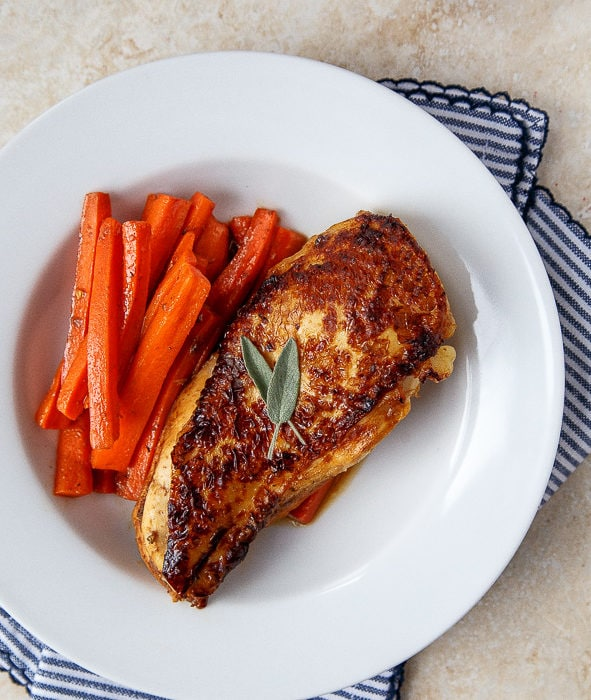 Dinner for two. Your next romantic date night meal: apple cider glazed chicken @dessertfortwo