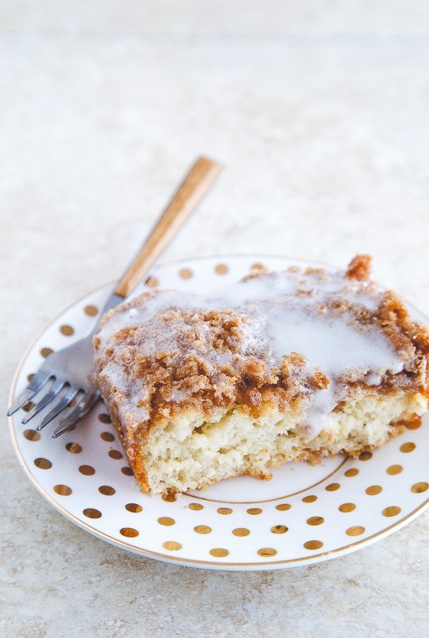 Beginner's easy coffee cake with yeast @dessertfortwo