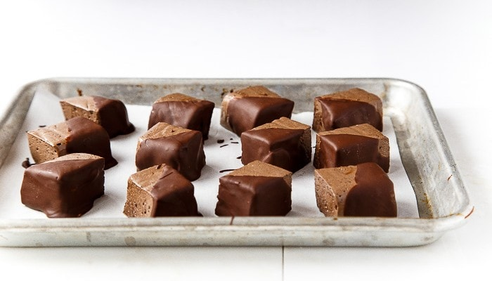 Easy chocolate dipped marshmallows