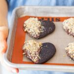 Ritz-dipped Chocolate Heart Cookies