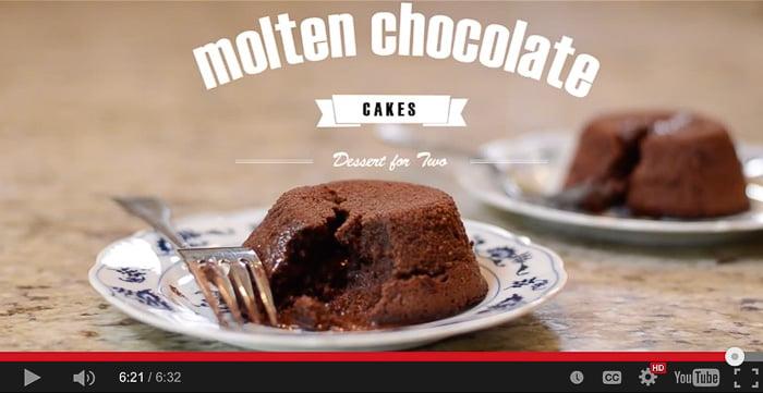 Molten Chocolate Cakes {video!}