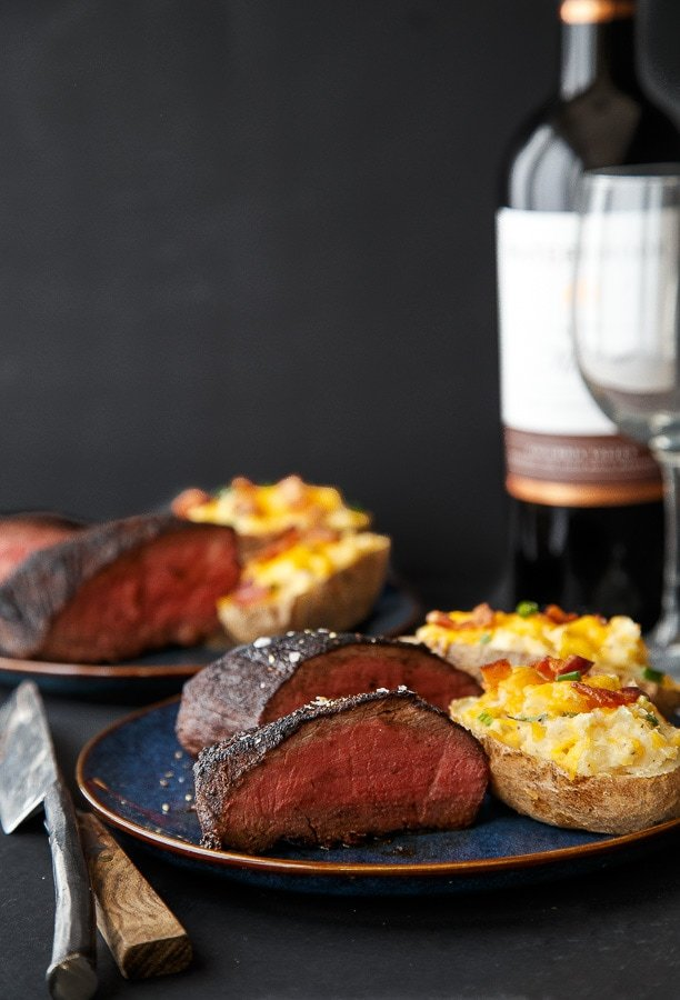 Cocoa rubbed steaks cocoa rubbed filets dinner for two valentines day forumfinder Choice Image