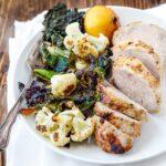 Dinner for Two: Honey-Mustard Pork Tenderloin + Crispy Cauli 'n Kale