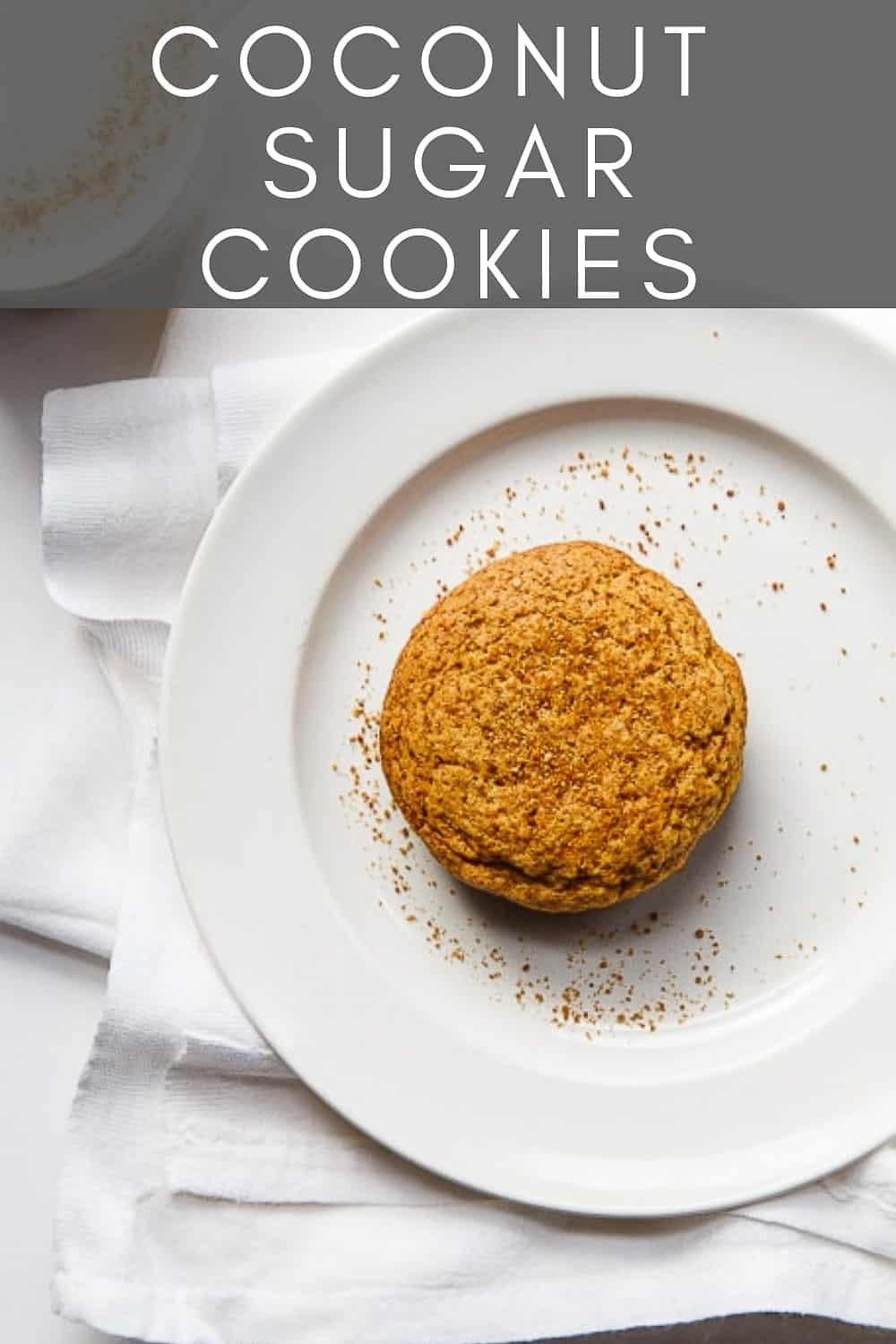 single cookie on a white plate