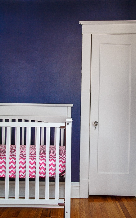 Blue and pink nursery @dessertfortwo