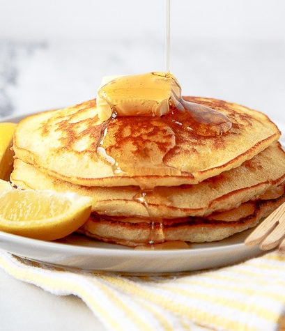 Lemon pancakes for two