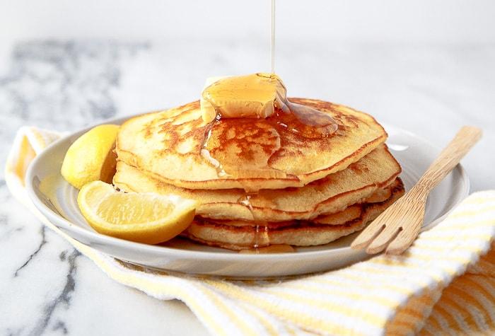 Lemon pancakes for two