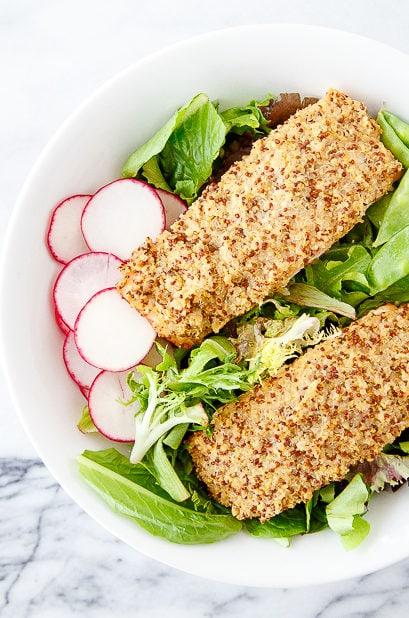 Quinoa salmon recipe @dessertfortwo