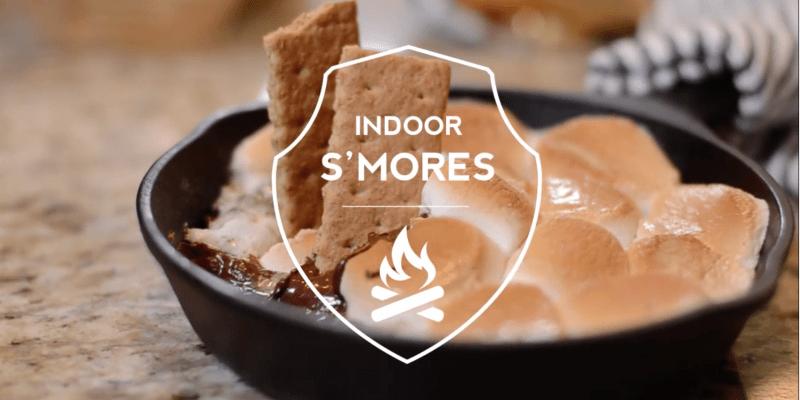 Indoor smores recipe