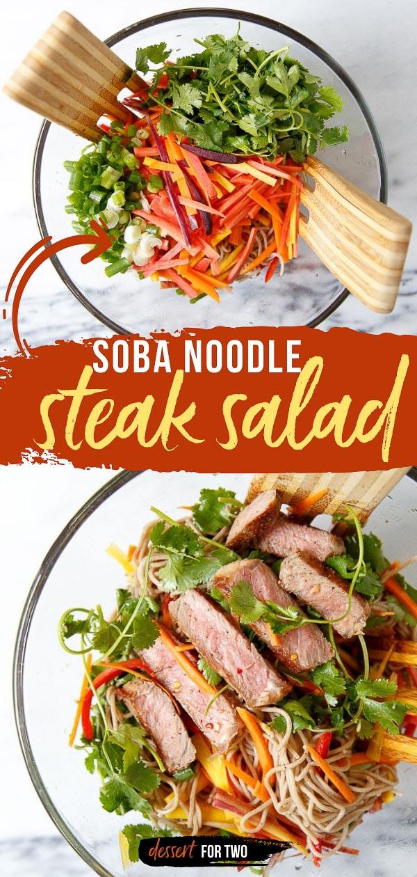 Soba noodle steak salad recipe.