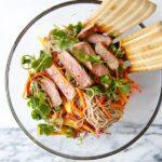 Dinner for Two: Soba Noodle Steak Salad