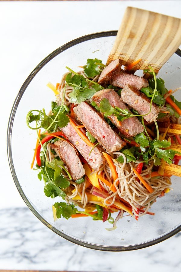 Asian Noodle Steak Salad recipe