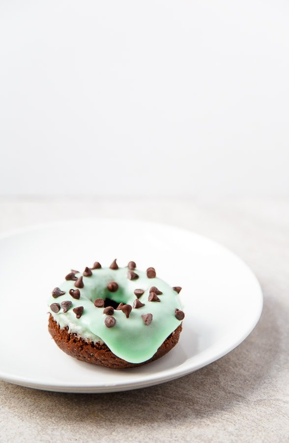 Mint Chocolate Doughnuts