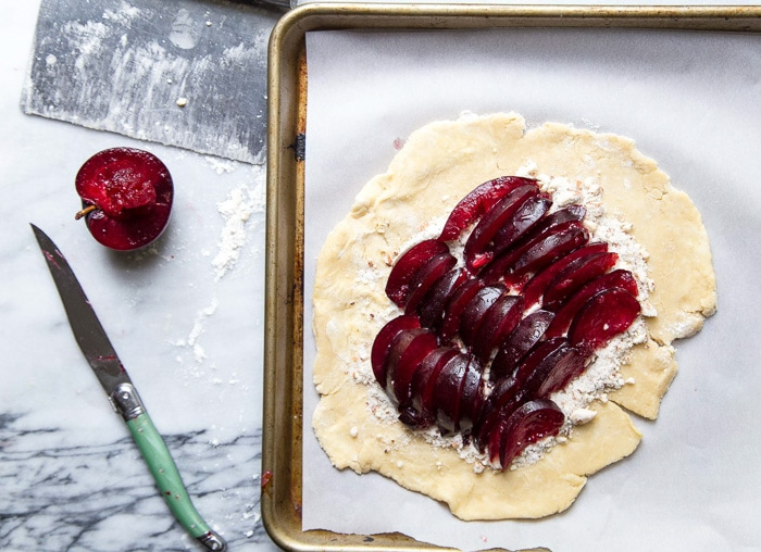 Plum galette for two recipe