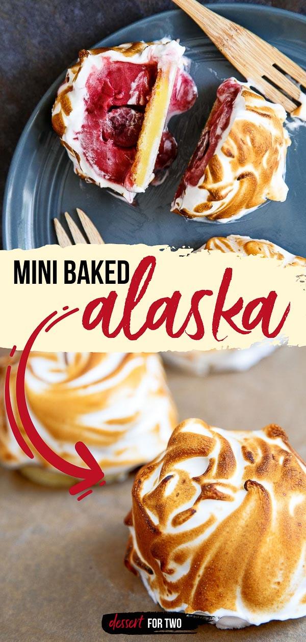 Mini baked Alaska treats.