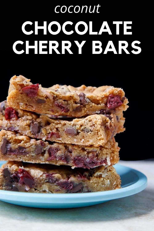 chocolate cherry coconut bars